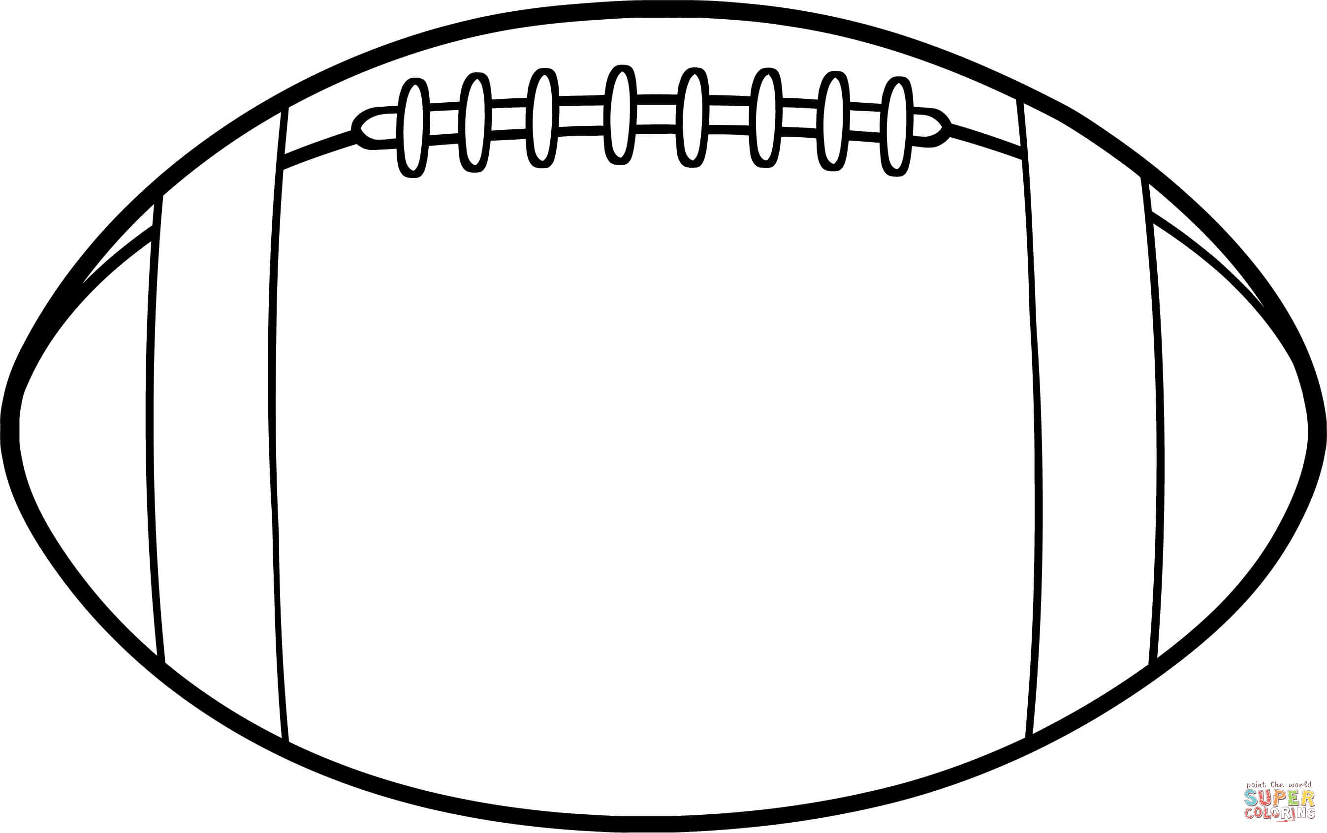 American Football Ball coloring page | Free Printable Coloring Pages
