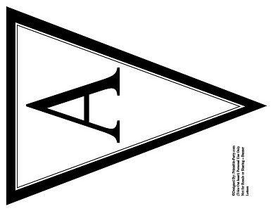 graphic regarding Large Printable Letters for Banners called Printable Flag Banner Template - ClipArt Suitable