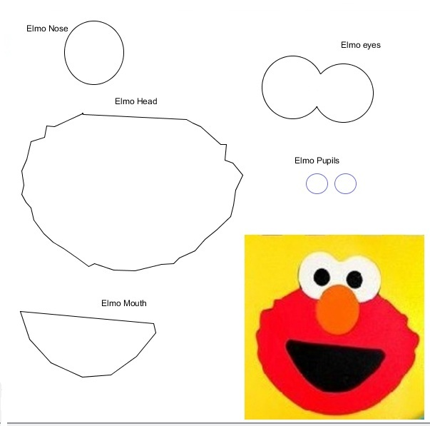 Free Printable Elmo Face Template ClipArt Best – Face Template Printable