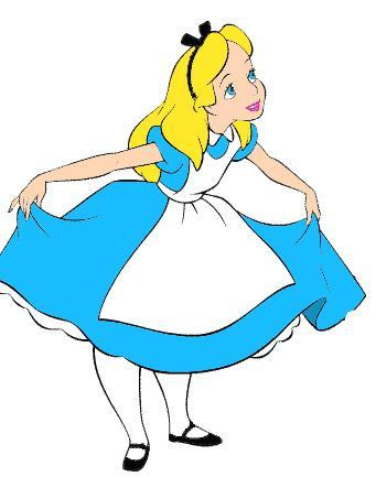 Alice In Wonderland Clip Art Free - Tumundografico