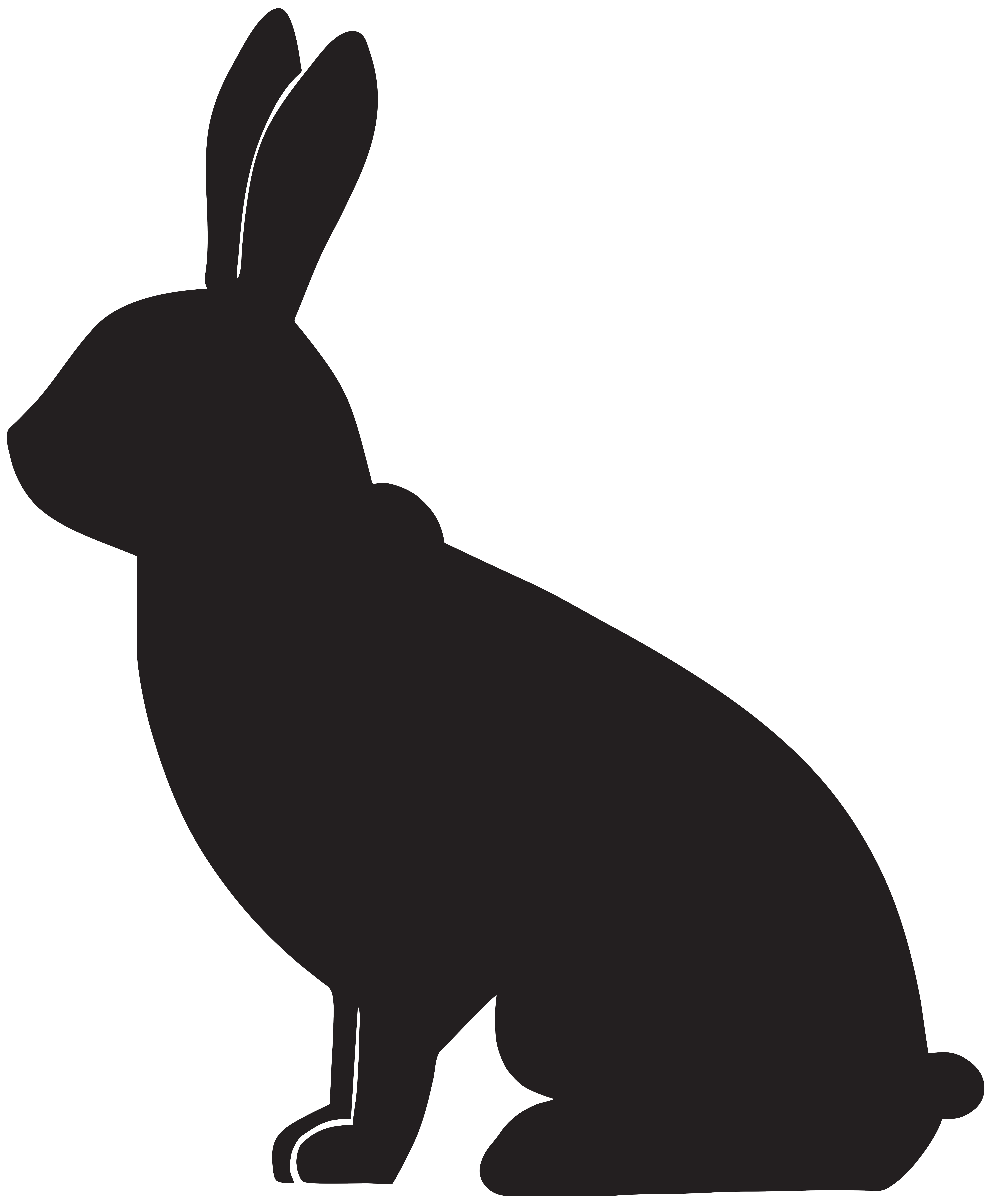 clipart image bunny silhouette - photo #33
