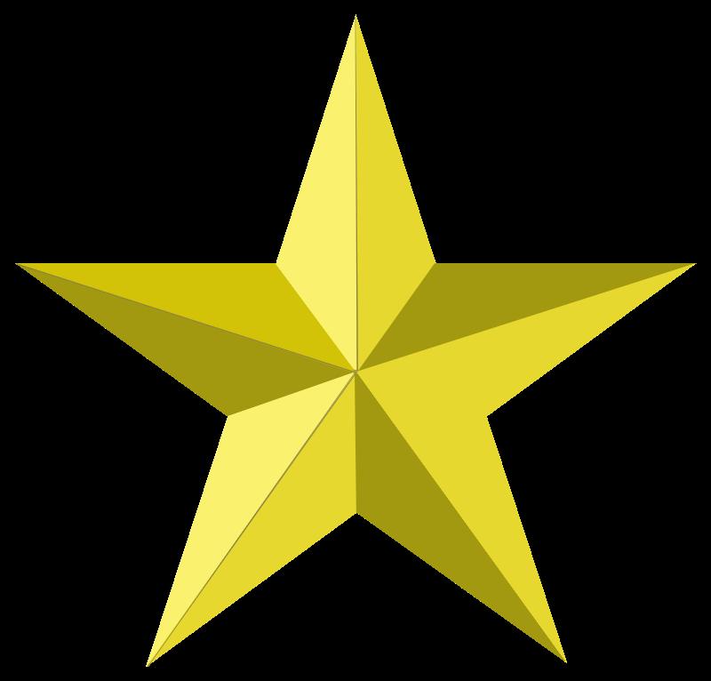 Gold star transparent clipart best