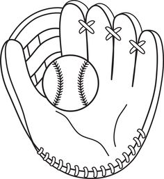 baseball glove template clipart best. Black Bedroom Furniture Sets. Home Design Ideas