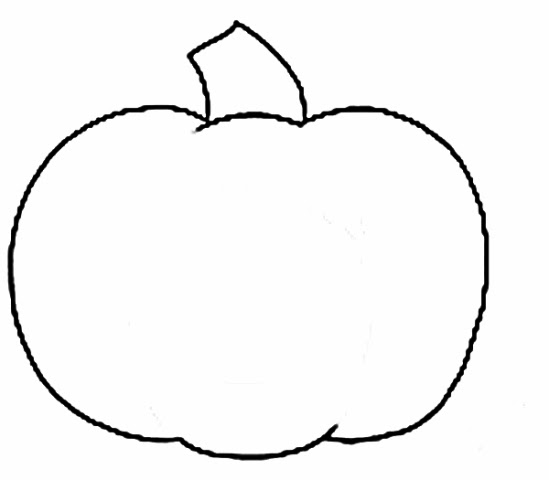 It is an image of Gargantuan Traceable Pumpkin Pattern