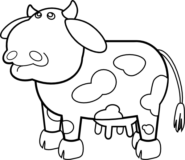 Coloring Pages You Can Color On The Computer : Free coloring pages of cows clipart best