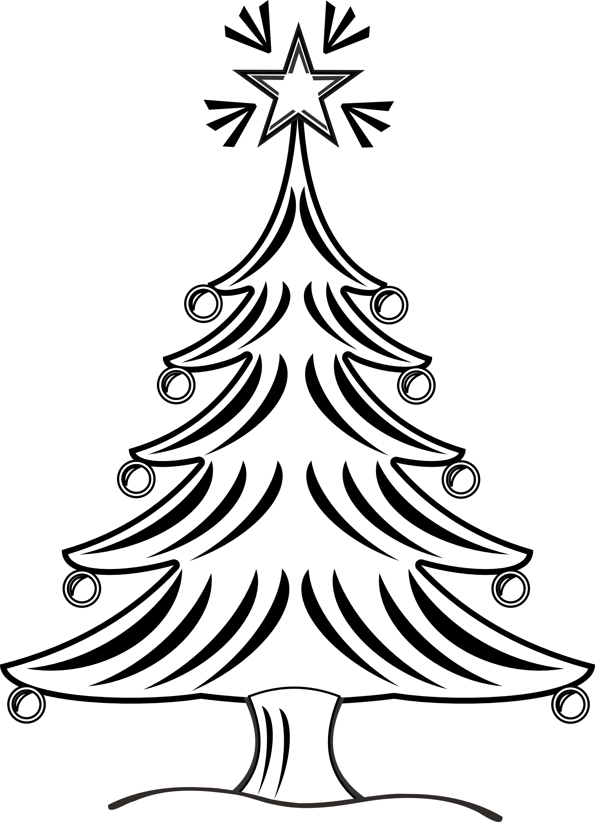 Christmas Tree Clipart Black And White Viewing Gallery