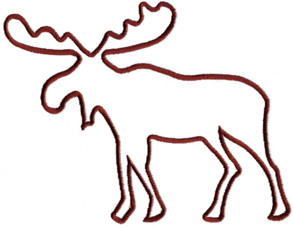 moose outline clipart best