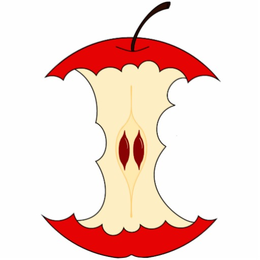 Outline Of Apple Core - ClipArt Best