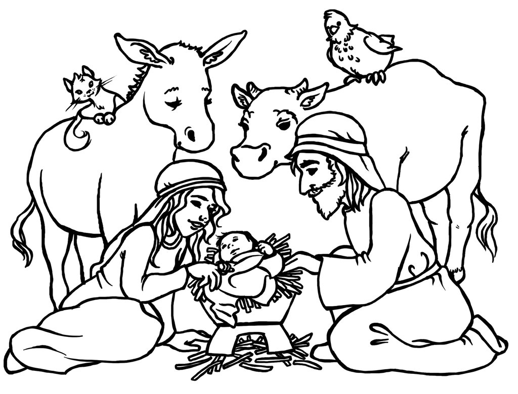 Manger Scene Coloring Clipart Best Free Coloring Pages Manger