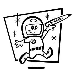 astronaut line drawing   Free cliparts that you can download to you    Retro Astronaut Drawing