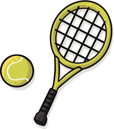 Cartoon Tennis Racket Clipart Best