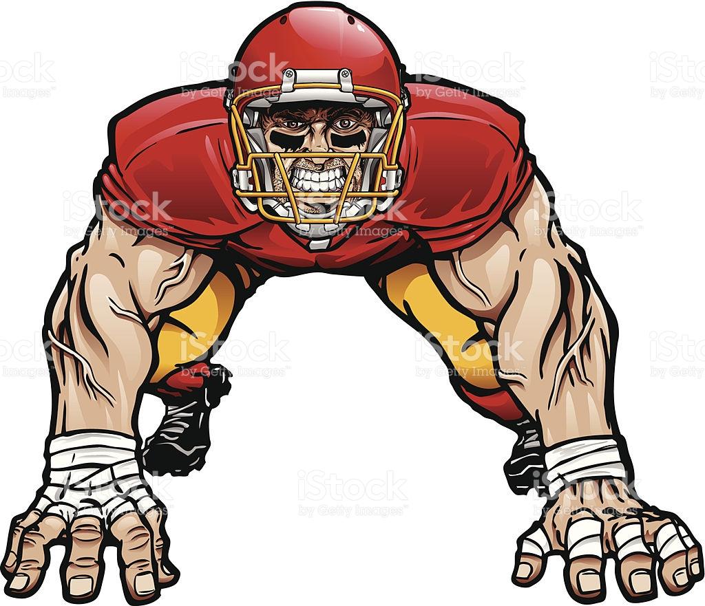 D Line Drawing : Football lineman clipart best