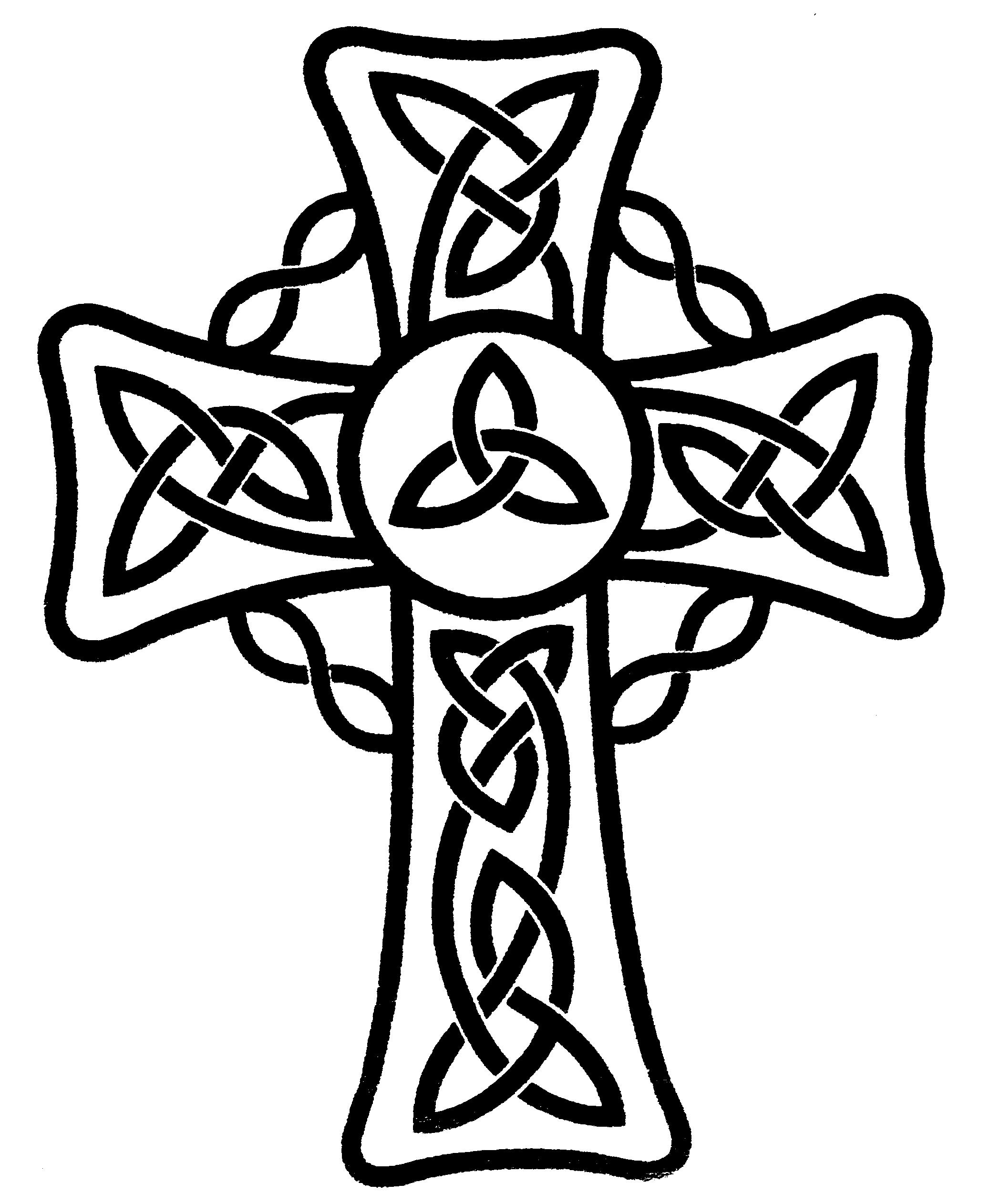 Simple Cross Line Art : Simple celtic cross clipart best