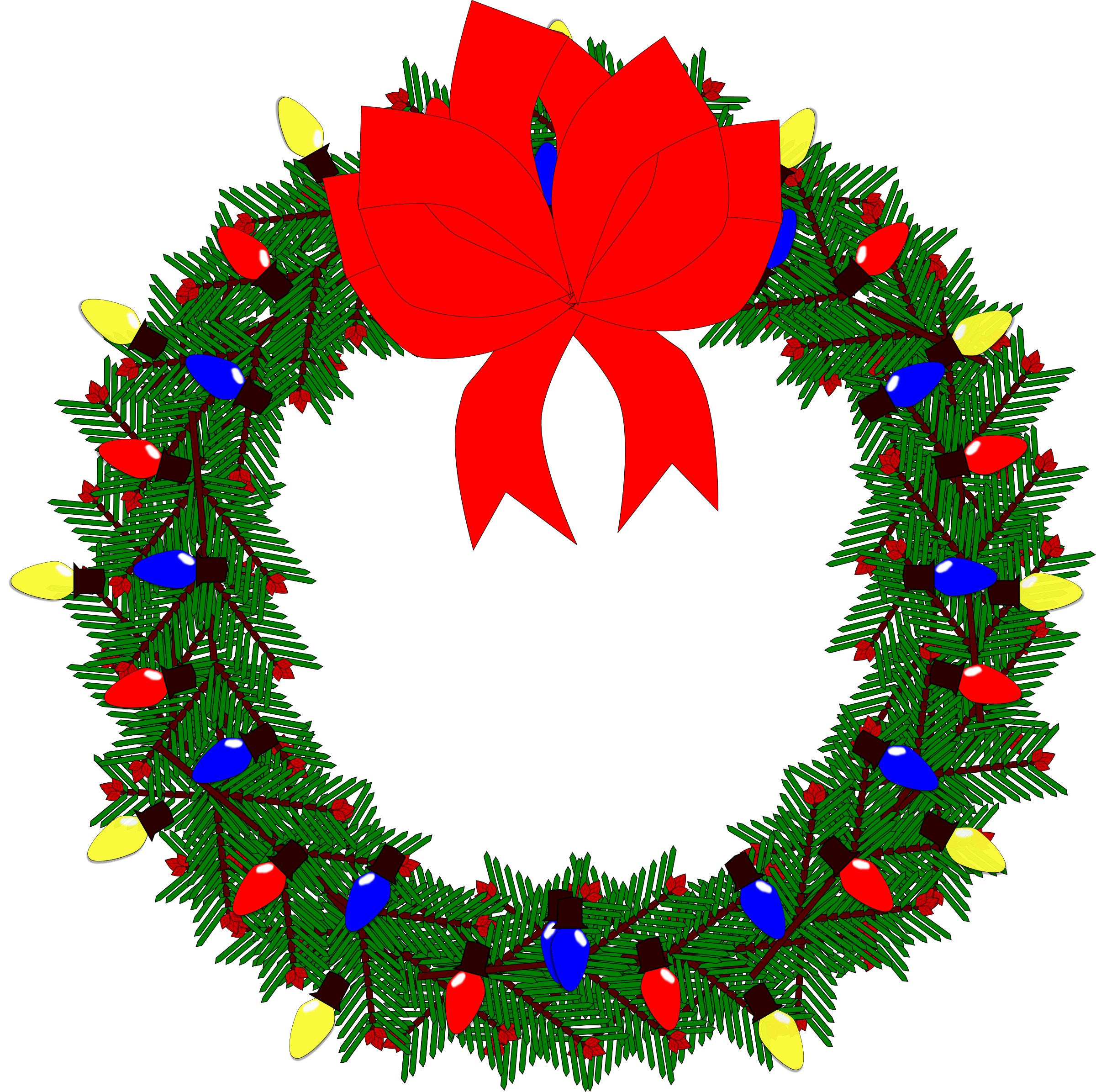 Holiday Wreath Clip Art - ClipArt Best