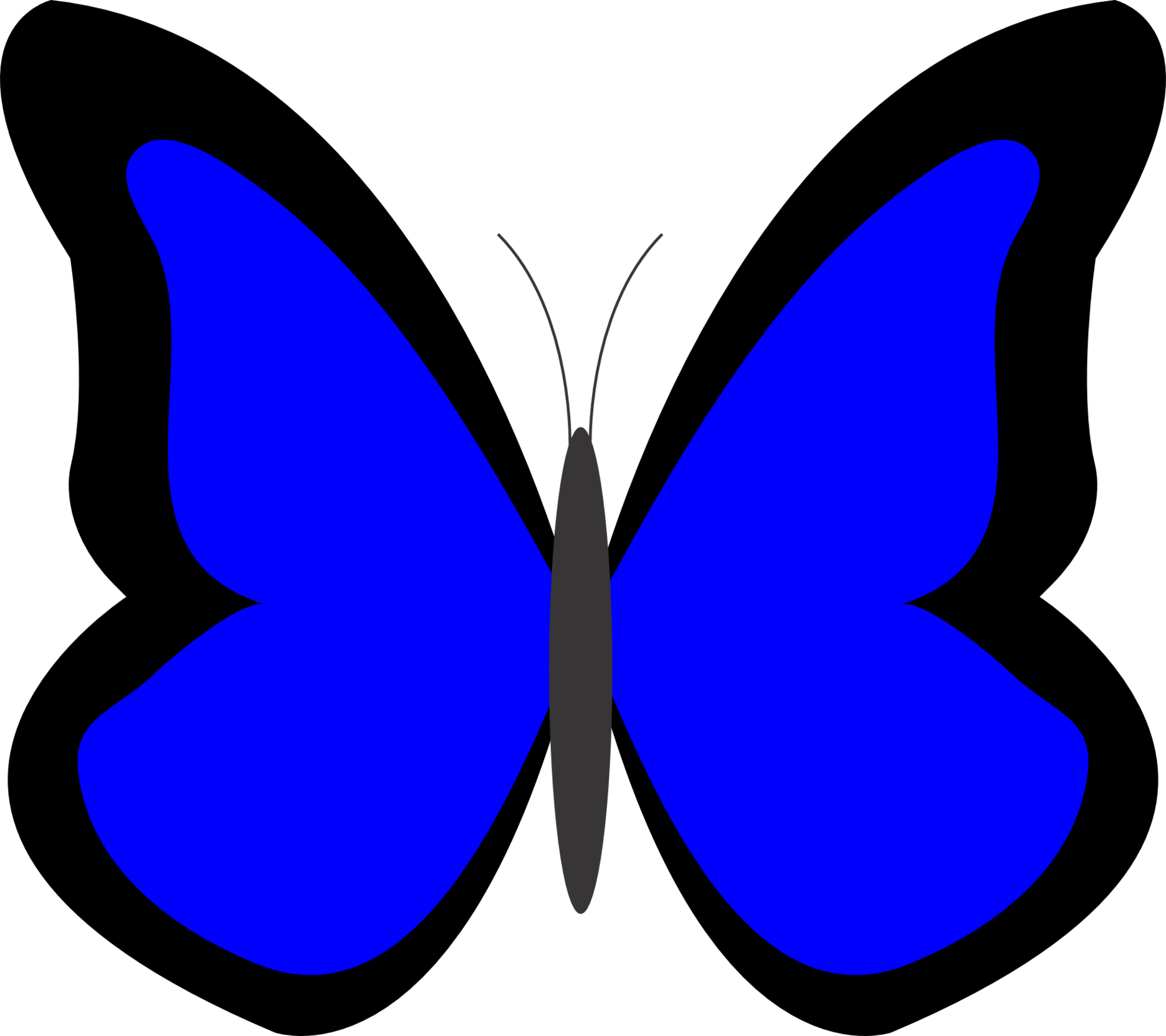 Colour In Butterfly Clipart Best
