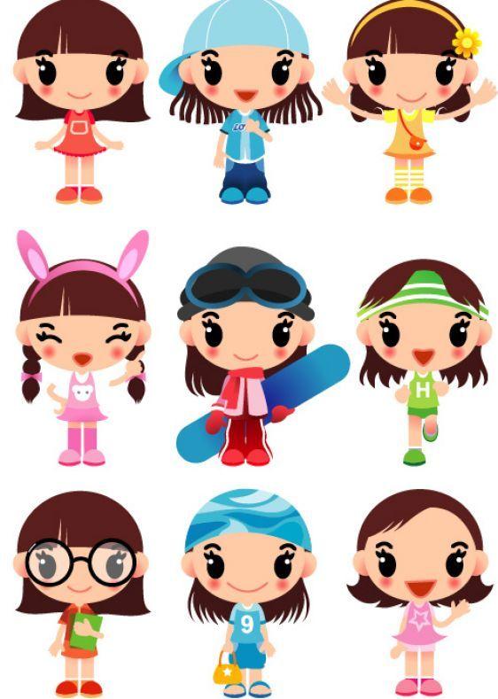 Girl Cartoon Character - ClipArt Best