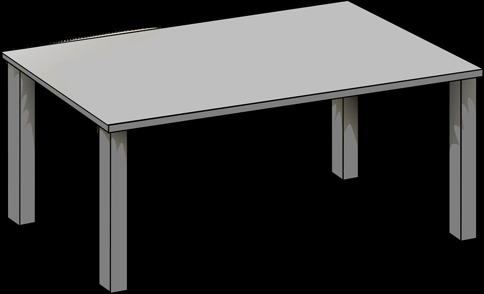 Kitchen table clip art black and white