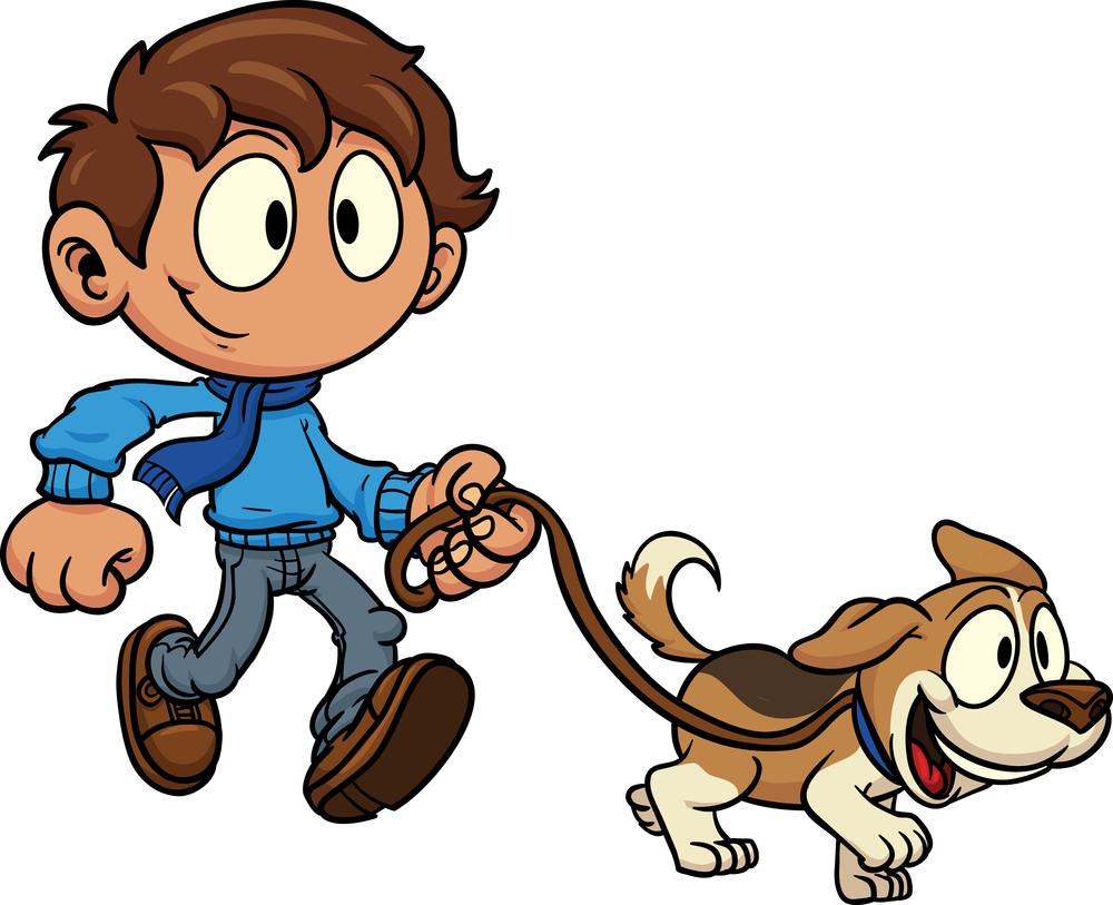 Walk A Dog Clipart