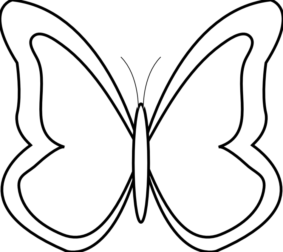 Line Drawing Butterfly Clipart - Free to use Clip Art Resource