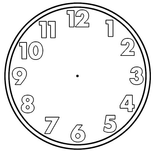 Free Clock Face Template - ClipArt Best