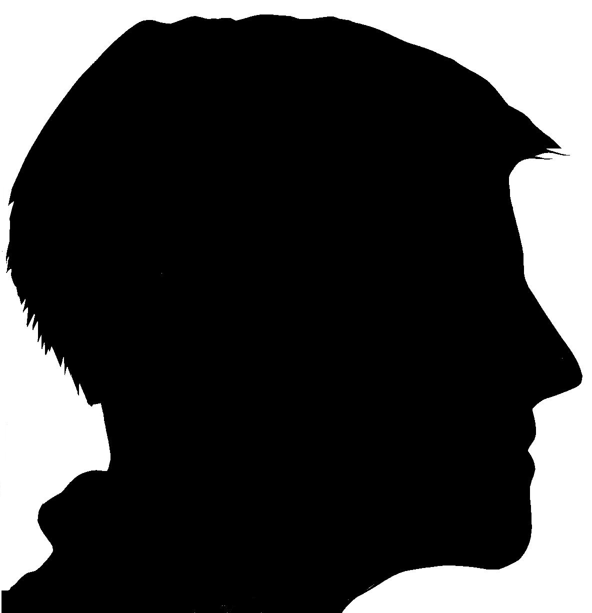 Side Face Silhouettes Clipart