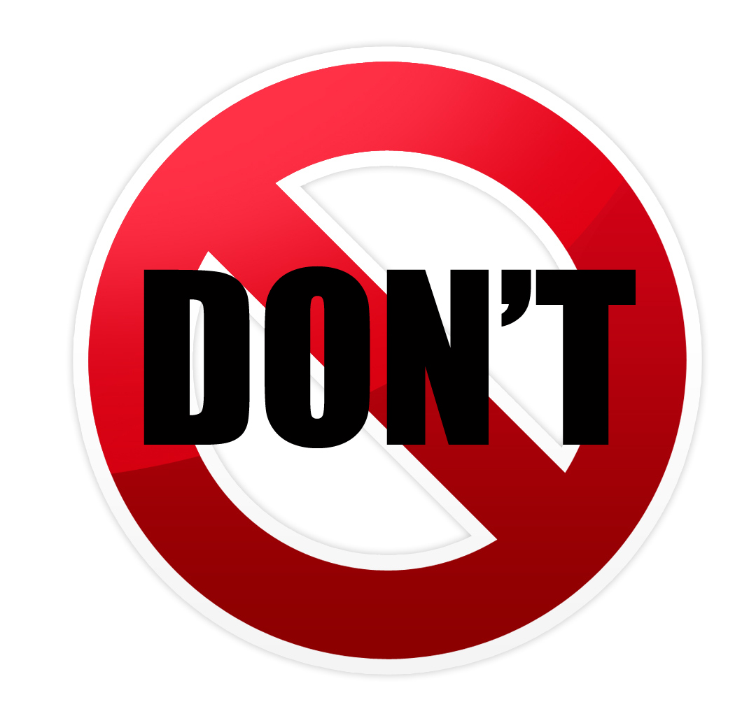 Do Not Use Sign Clip Art - ClipArt Best