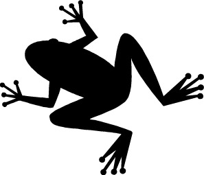 Silhouette Clipart Image - Green Frog Silhouette   Silhouette clip art,  Clip art, Silhouette stencil