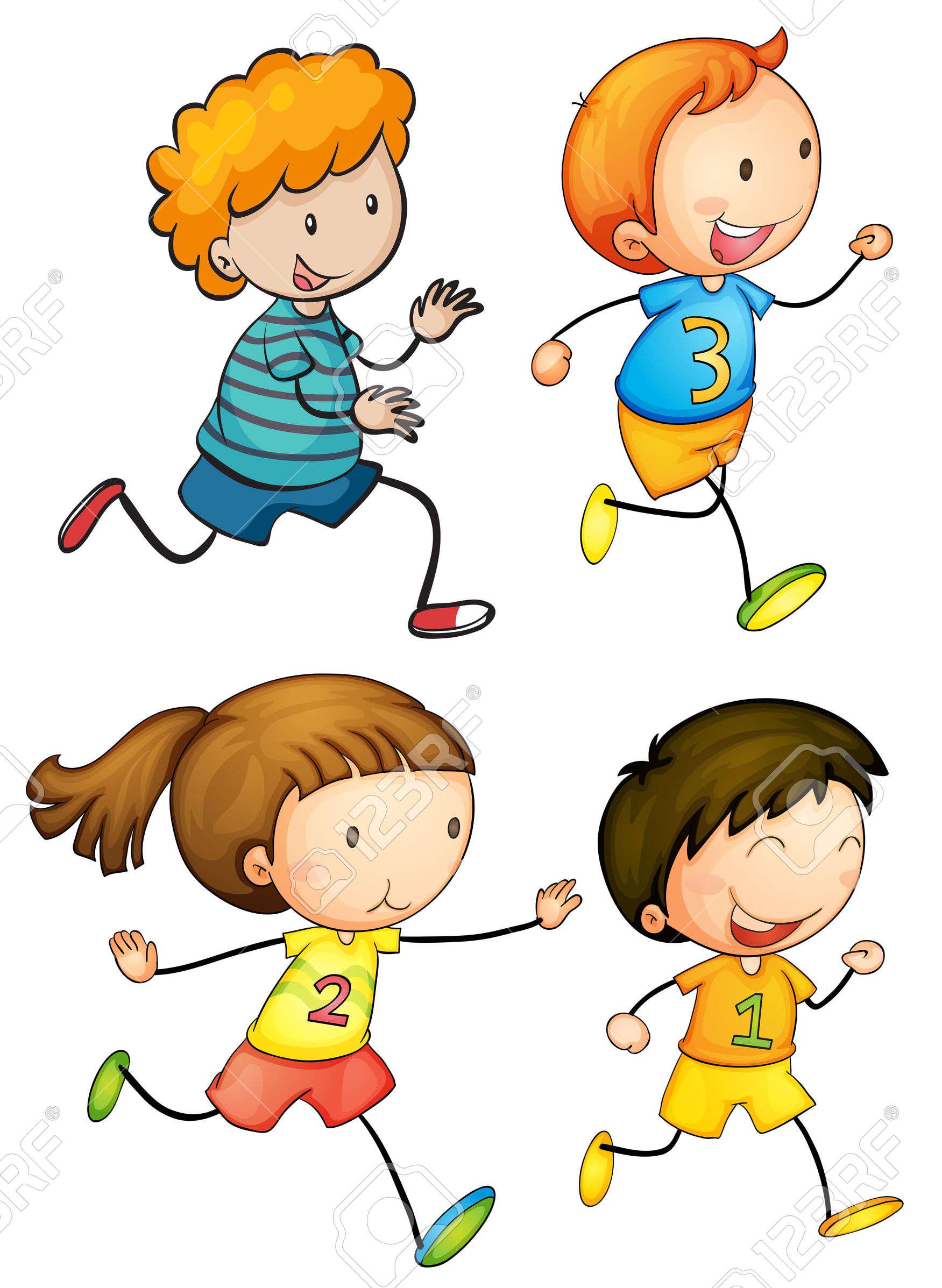 Cartoon kid running