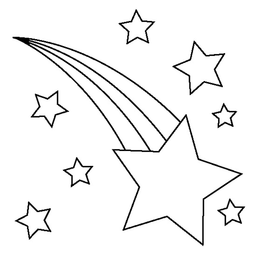 Рисунки раскраски звёздочек