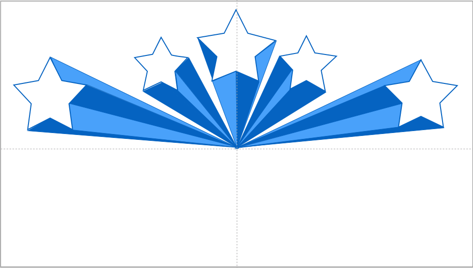 Blue Star Shooting Star Clipart