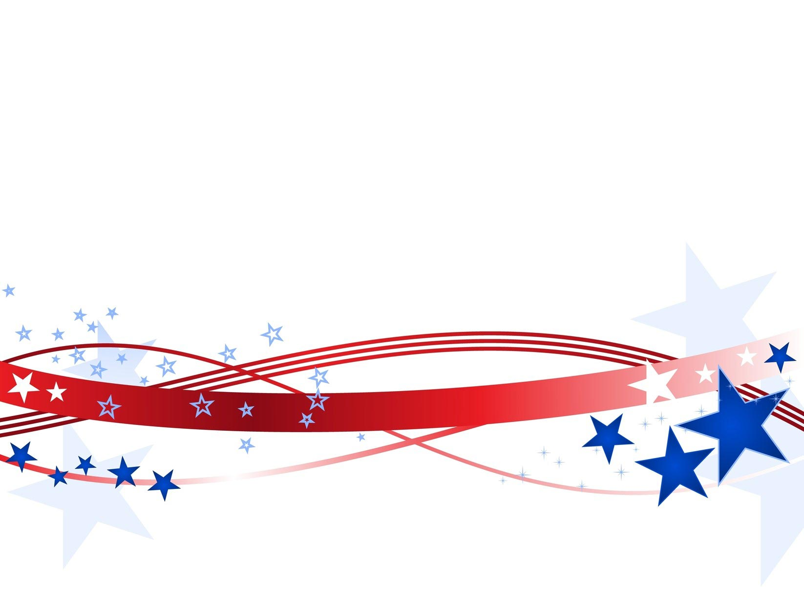 4th Of July Clipart Banner Patriotic fonts · 4th july