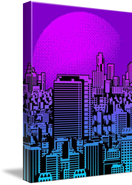 Cityscape Collage 01A Art Prints by Max Capacity - Shop Canvas and ...