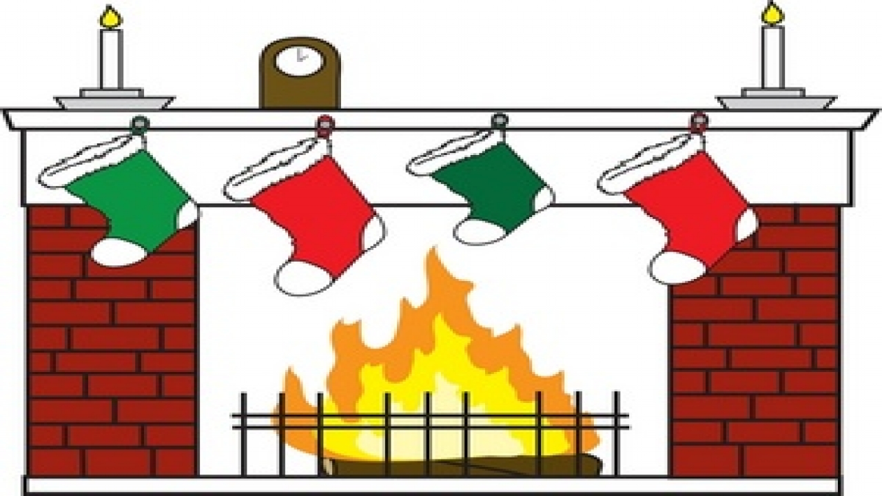 Christmas fireplace clipart best