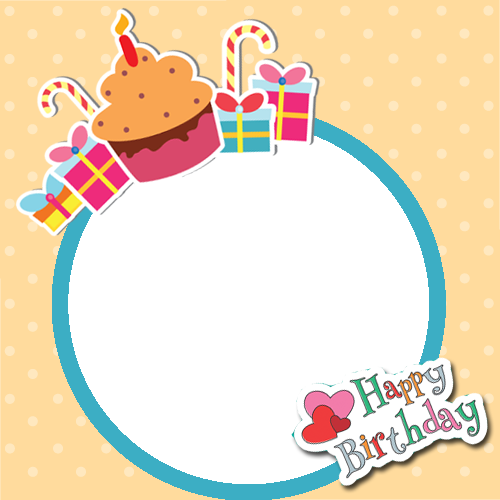 birthday card frame download