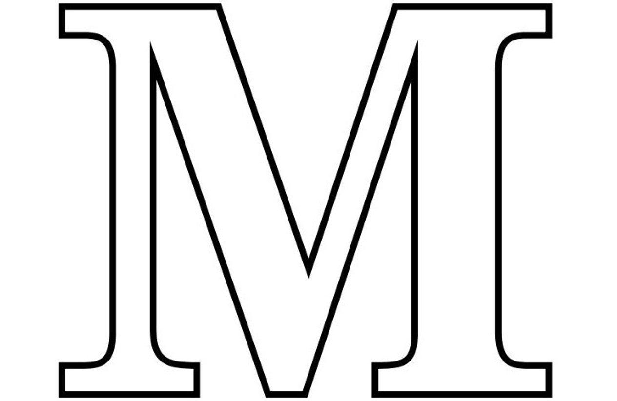 Letter M Clipart Best Letter M Coloring Pages