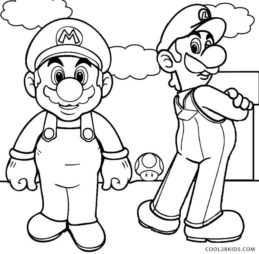mario mansion coloring pages - photo#2