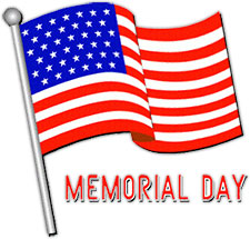 Black white memorial day flag clipart - ClipartFox