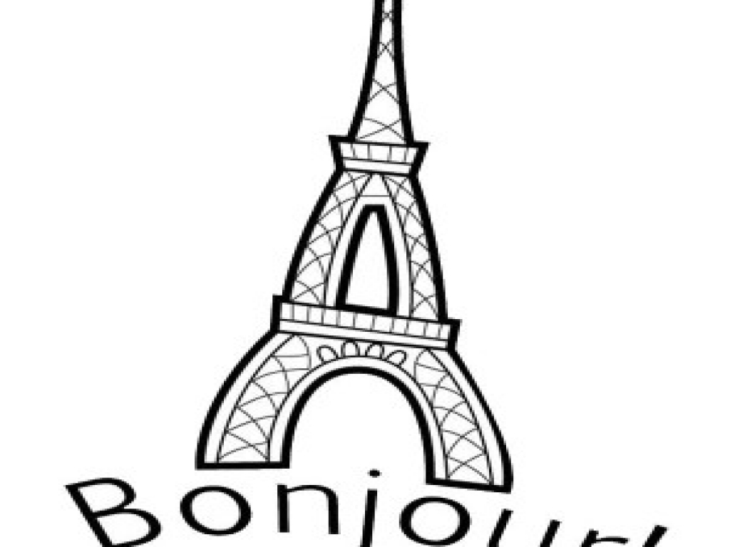 eiffel tower coloring page clipart best