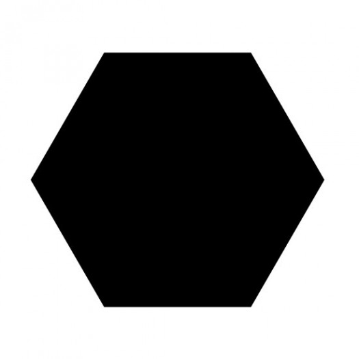Shape of a hexagon