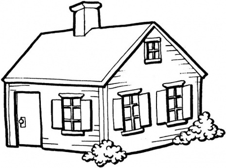 Line Drawing Of A House Clipart Best