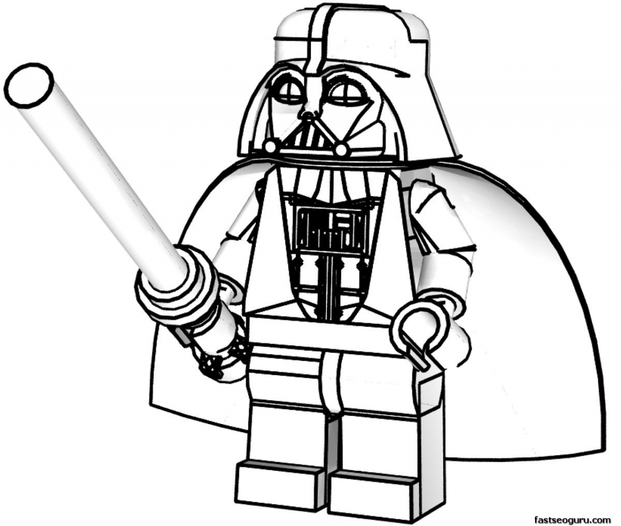 Star Wars Line Art Clipart Best Wars Coloring Pages Lego