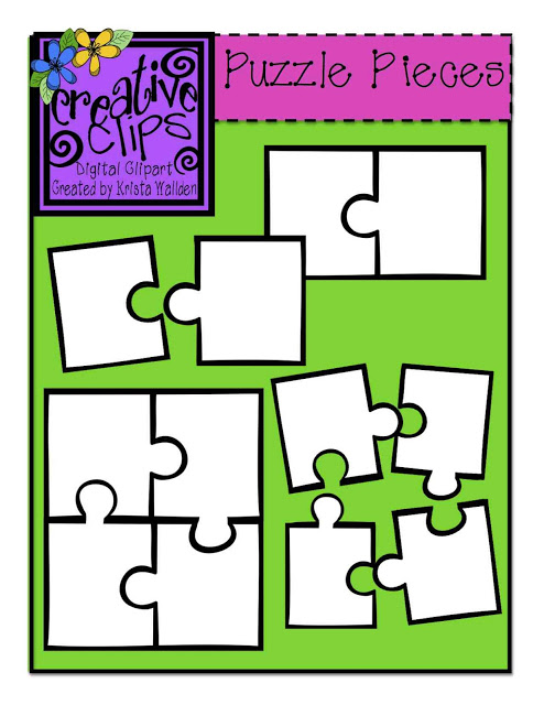 The Creative Chalkboard: {Free} Puzzle Piece Clipart and NEW Shape ...