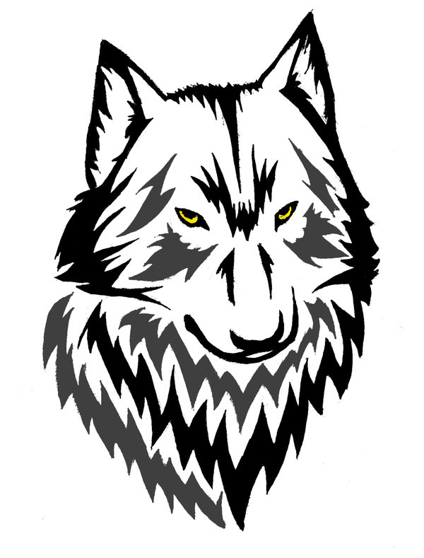 wolf drawing howling outline