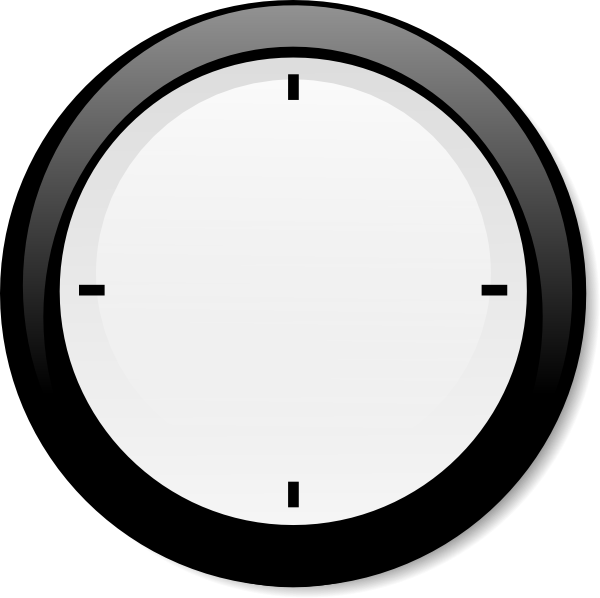 Blank Clocks With 5 - ClipArt Best