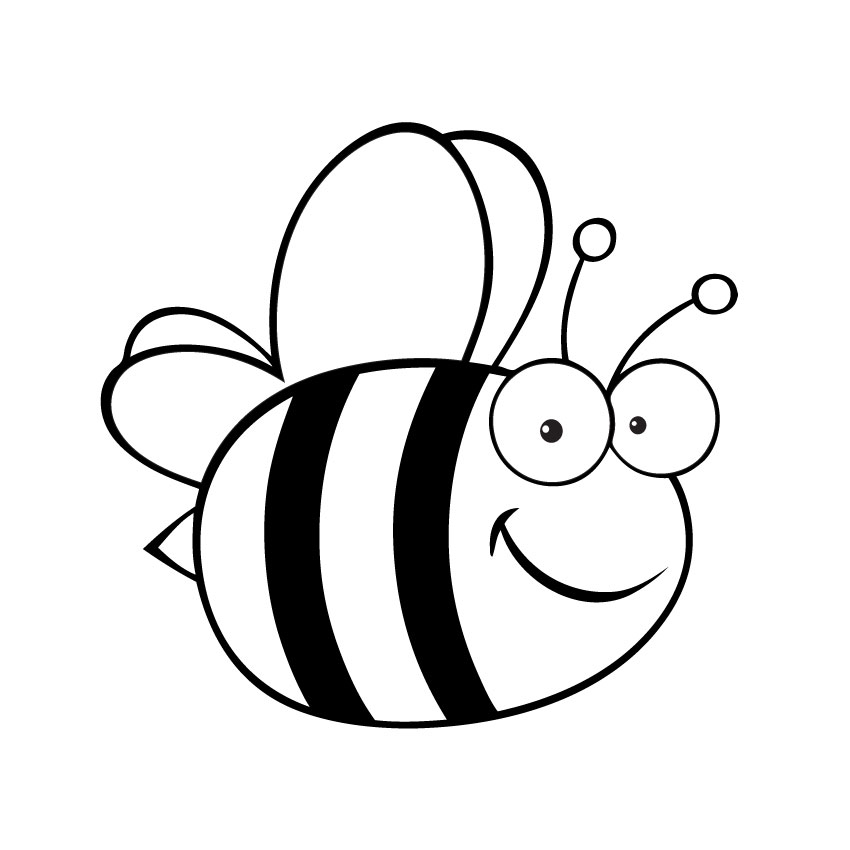 Line Drawing Bee : Bee line art clipart best