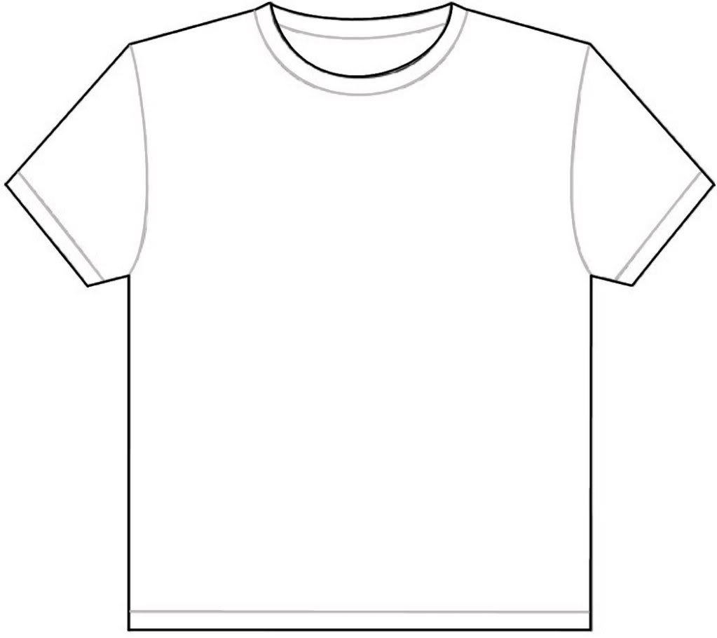t shirt shape clipart - photo #50
