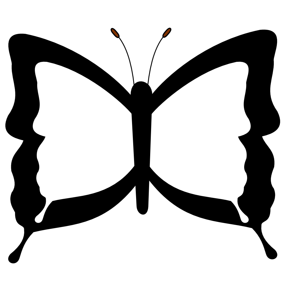 Butterfly Drawings Black And White - ClipArt Best