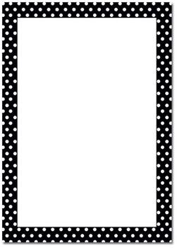 POLKA DOT B/W PAGE BORDER - ClipArt Best - ClipArt Best