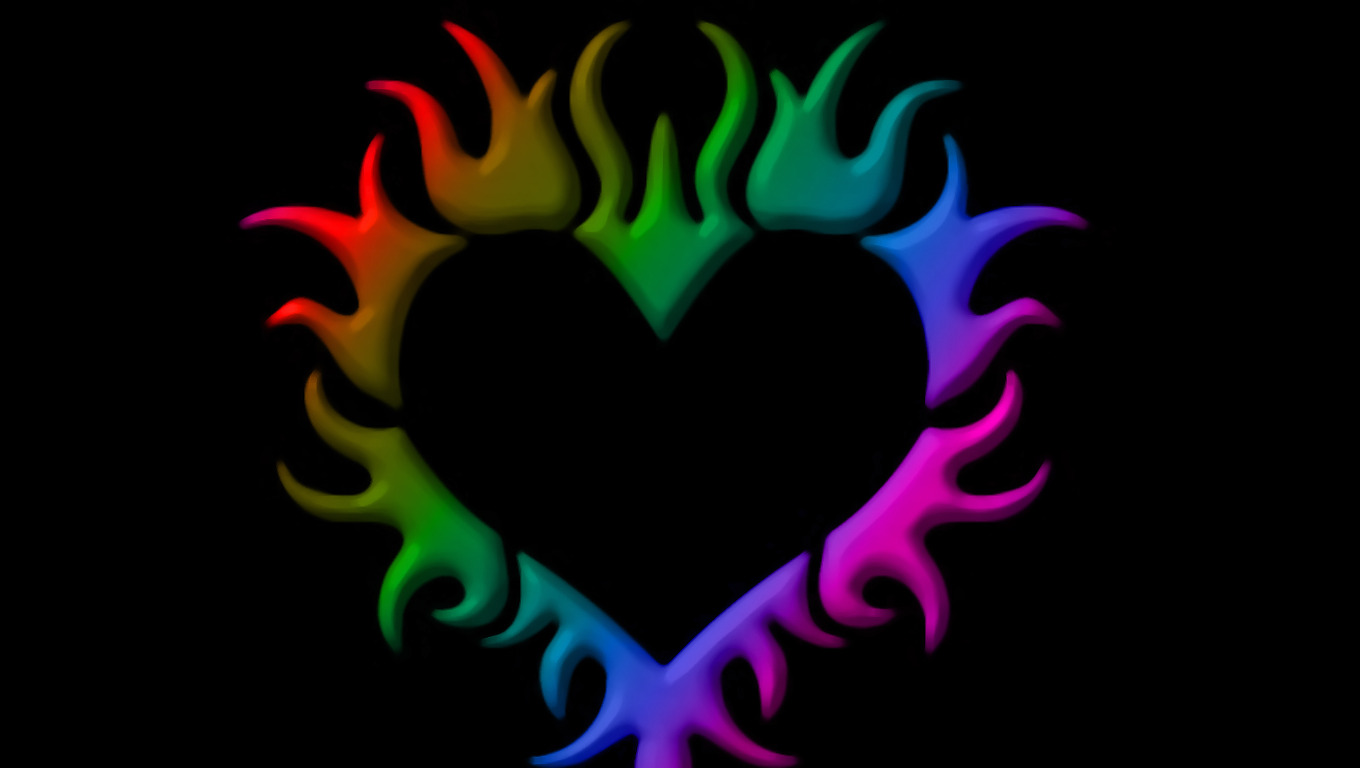 Love Wallpapers Screensavers : Pictures Of Rainbow Hearts - clipArt Best