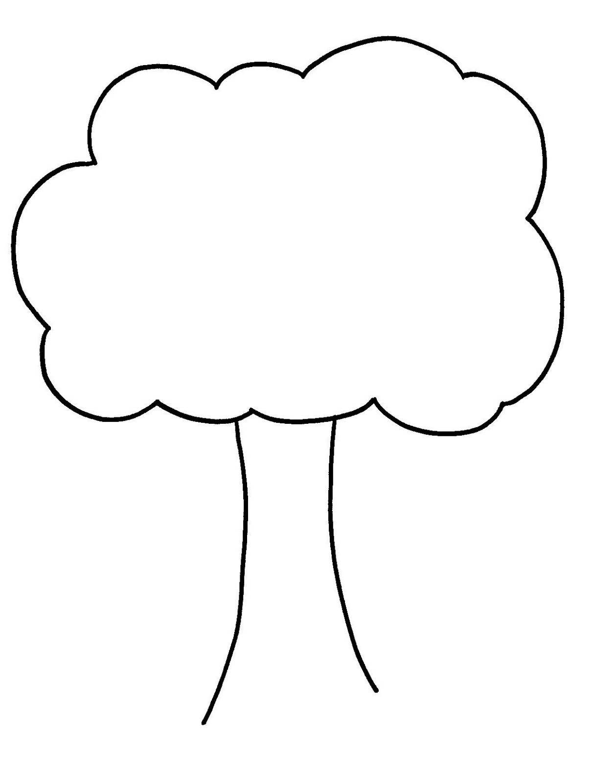 plain family tree template - tree outline printable clipart best